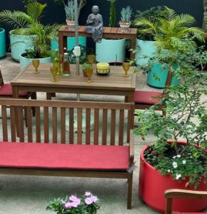 Decore seu ambiente externo com frescor e aconchego