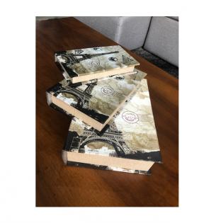 Conjunto de 3 Livros Book – Torre Eifel