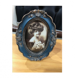 Porta Retrato Moldura Azul